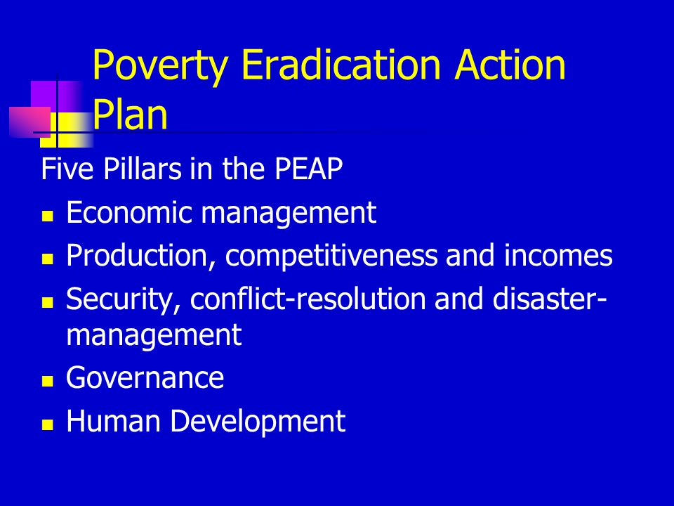 Poverty Eradication Action Plan