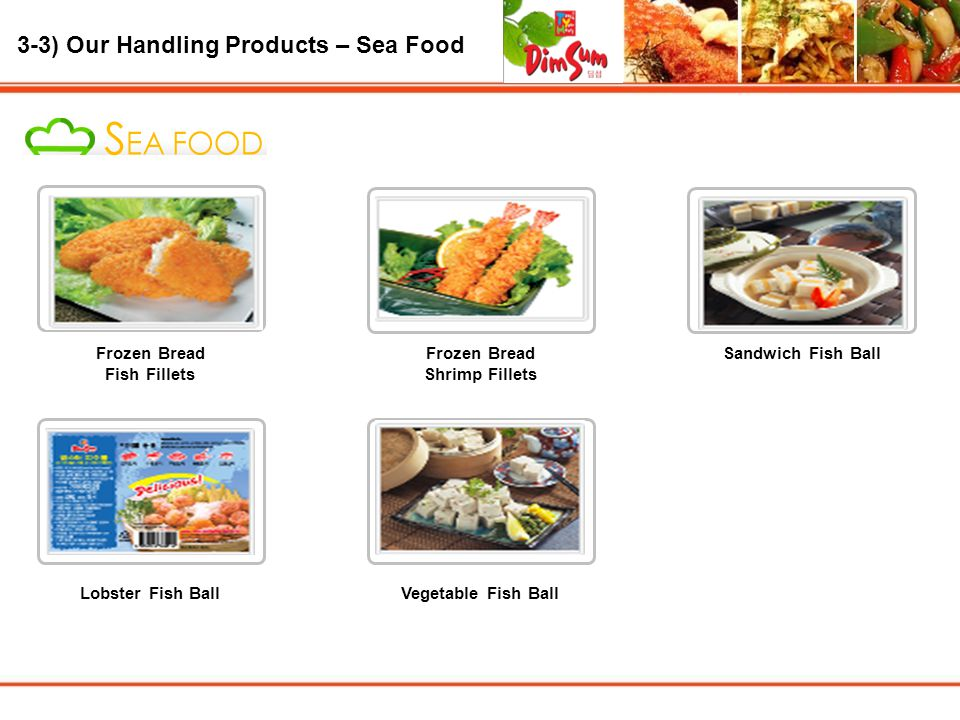 3-3) Our Handling Products – Sea Food