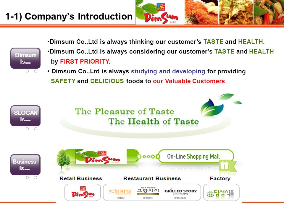 1-1) Company's Introduction