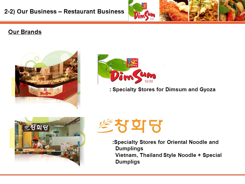 : Specialty Stores for Dimsum and Gyoza