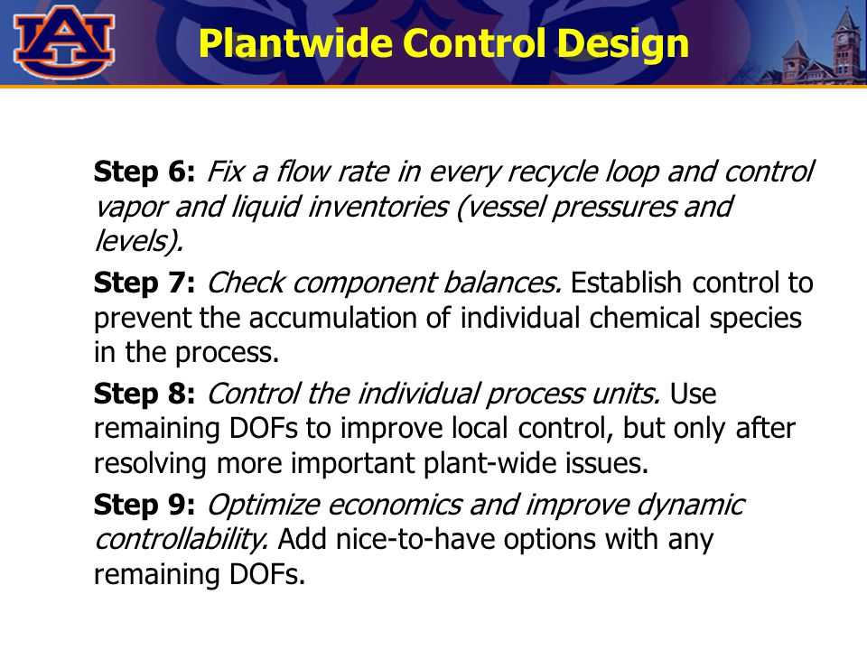 Plantwide Control Design