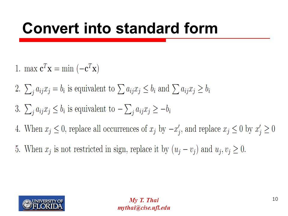 Convert into standard form