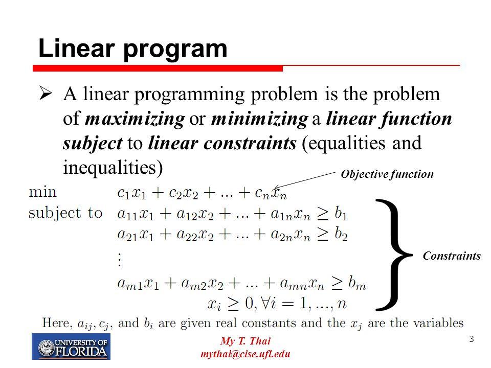 Linear program