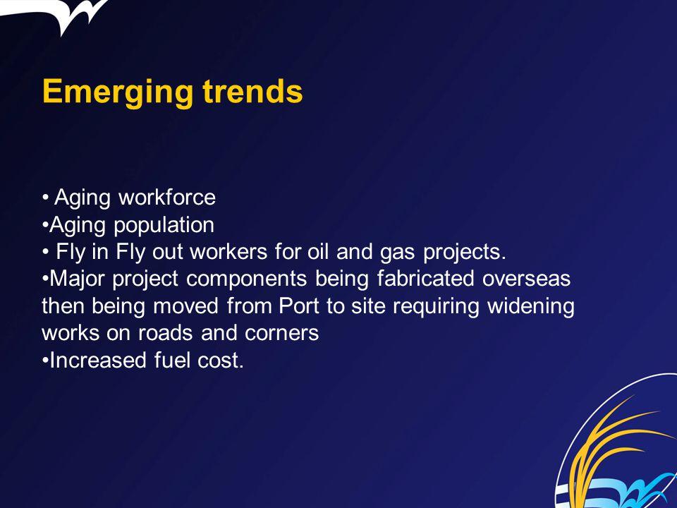 Emerging trends Aging workforce Aging population