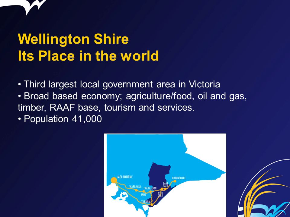 Wellington Shire Its Place in the world