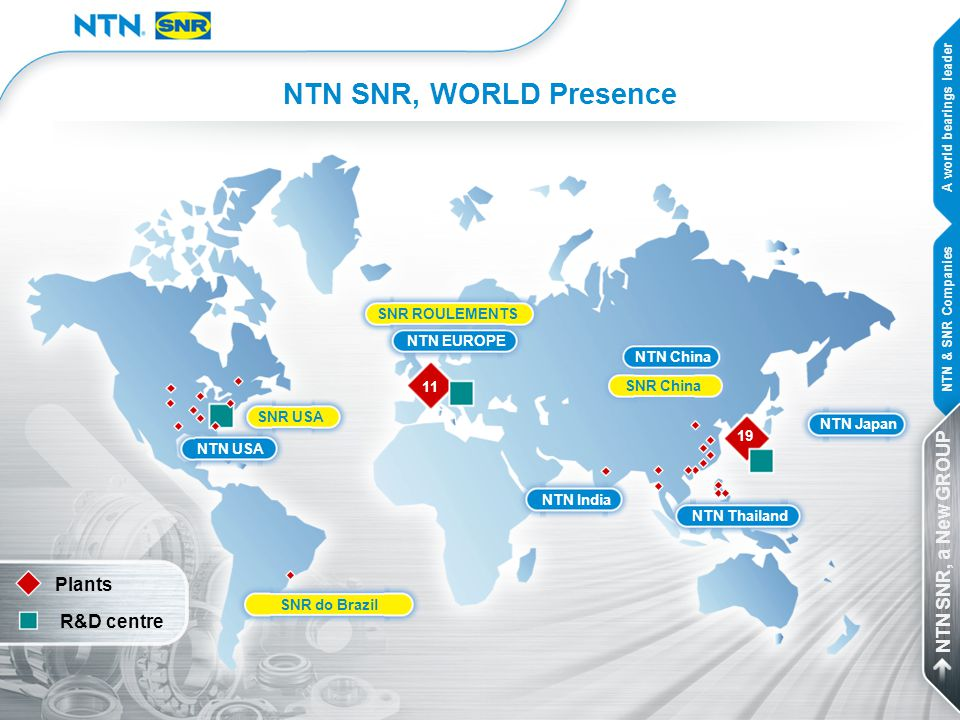 NTN SNR, WORLD Presence NTN SNR, a New GROUP Plants R&D centre