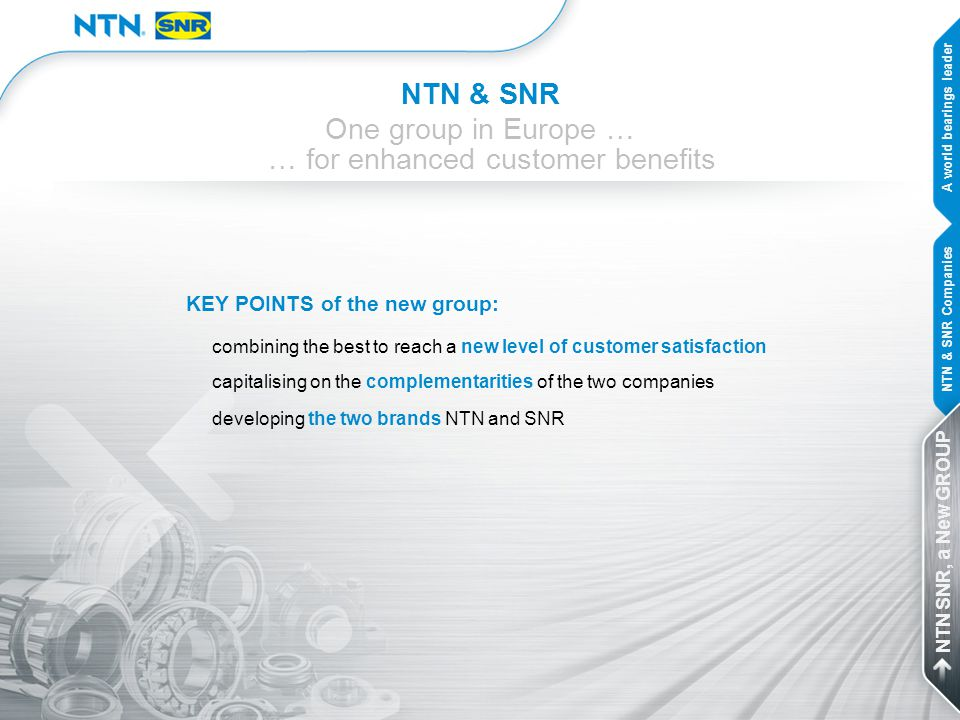 … for enhanced customer benefits
