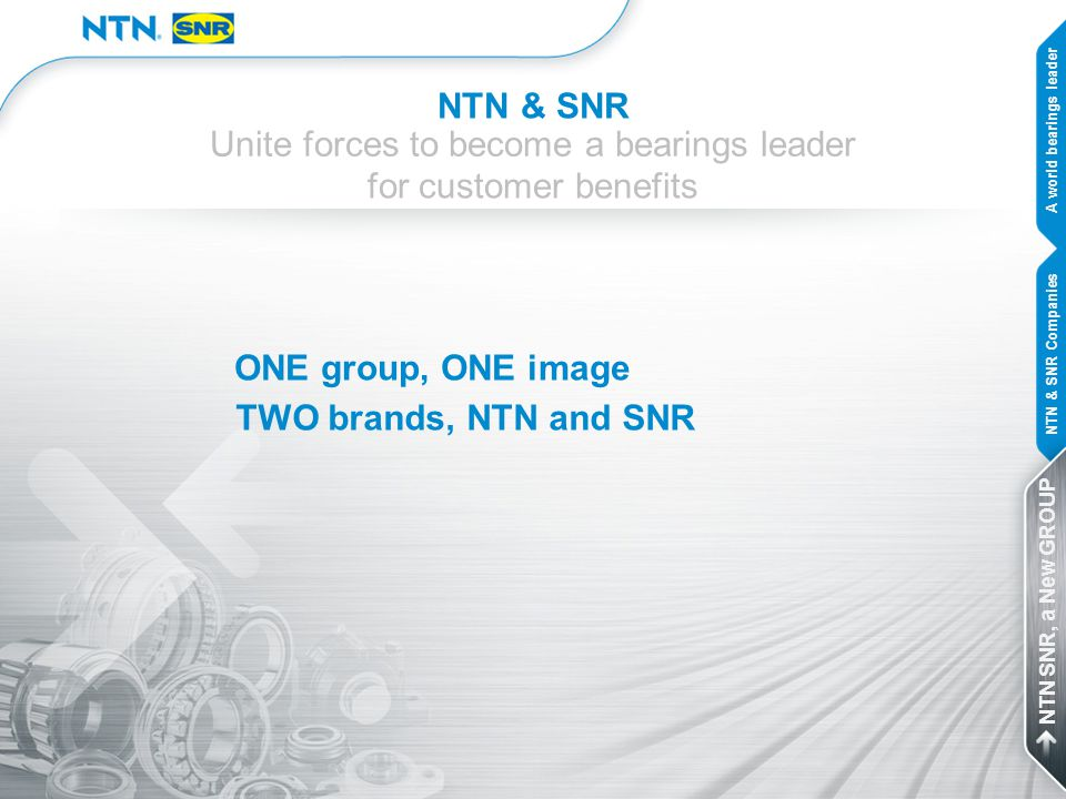 Unite forces to become a bearings leader