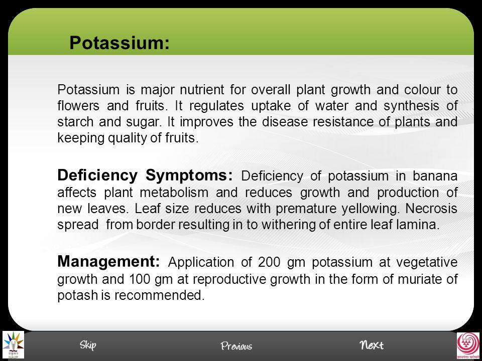 Potassium: