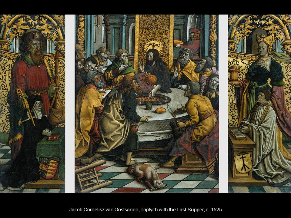 Jacob Cornelisz van Oostsanen, Triptych with the Last Supper, c. 1525
