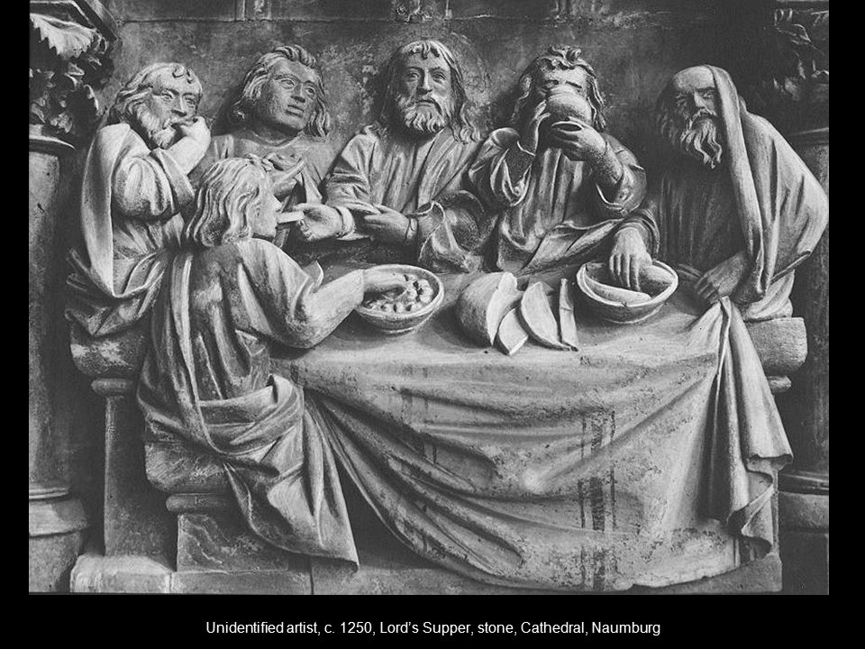 Unidentified artist, c. 1250, Lord's Supper, stone, Cathedral, Naumburg