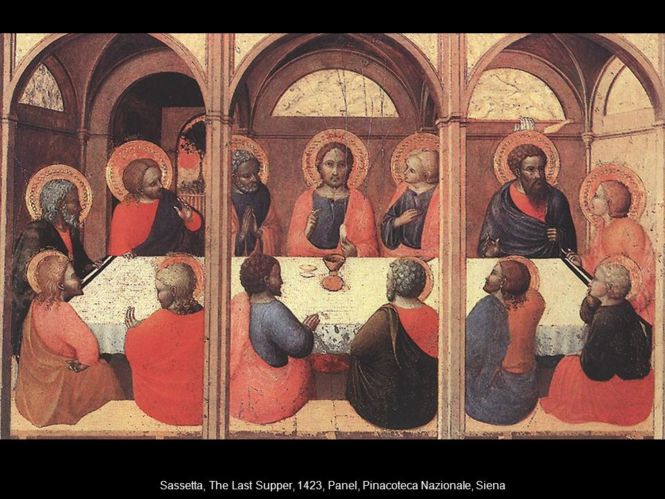 Sassetta, The Last Supper, 1423, Panel, Pinacoteca Nazionale, Siena