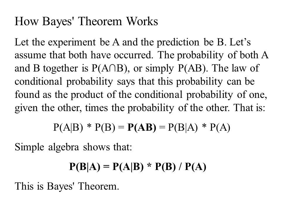P(B|A) = P(A|B) * P(B) / P(A)