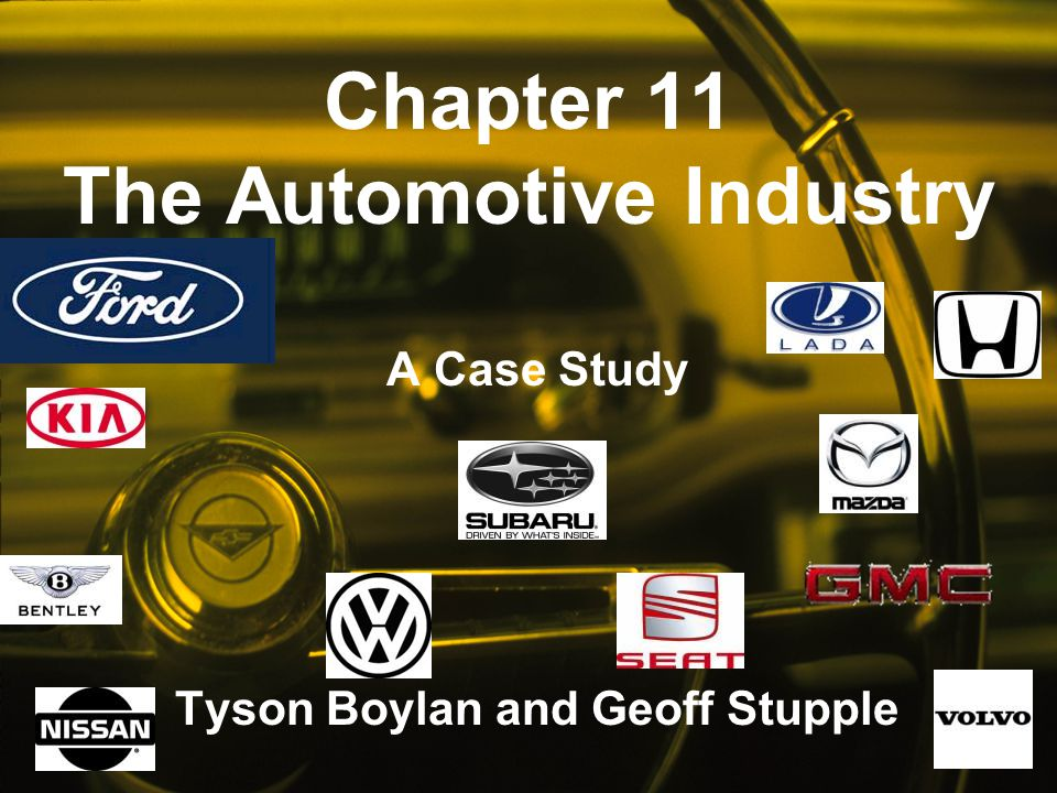 Chapter 11 The Automotive Industry
