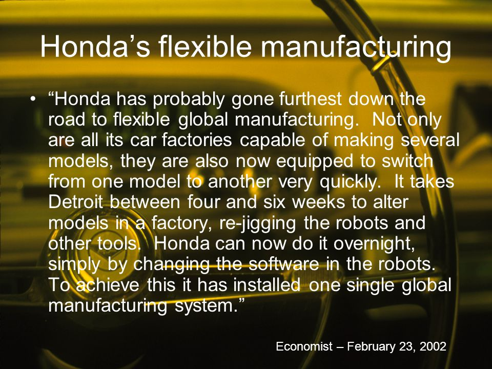 Honda's flexible manufacturing
