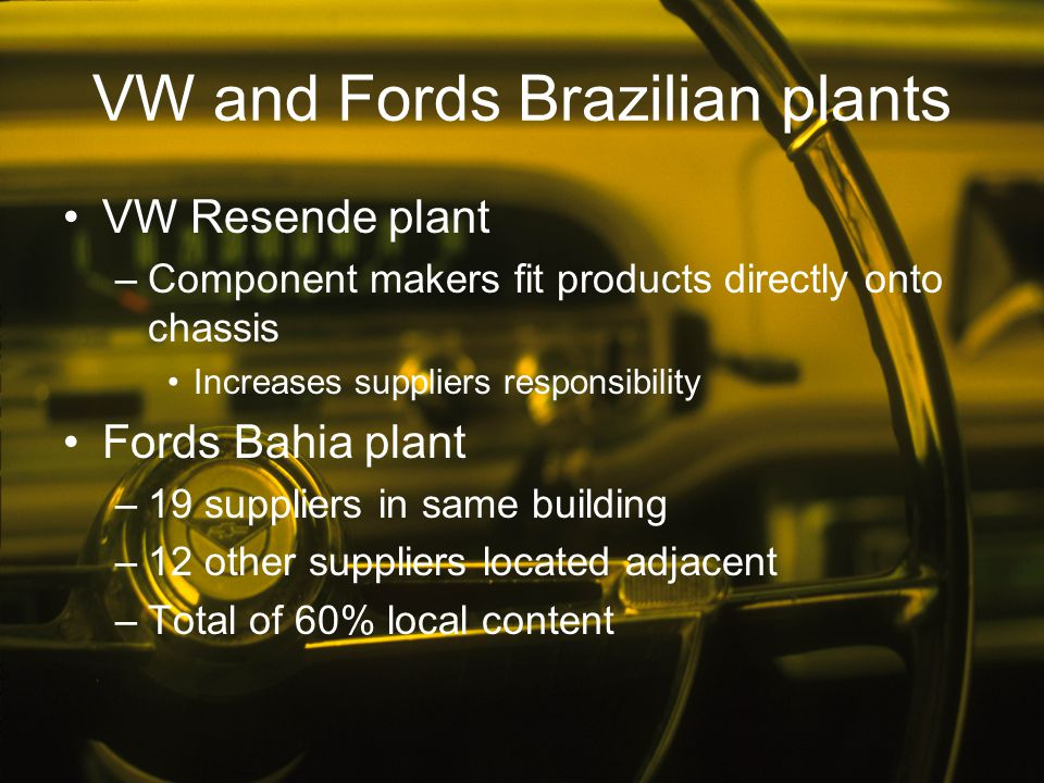 VW and Fords Brazilian plants