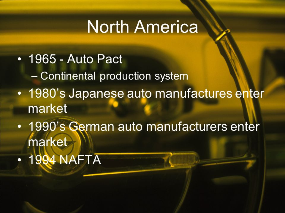 North America 1965 - Auto Pact