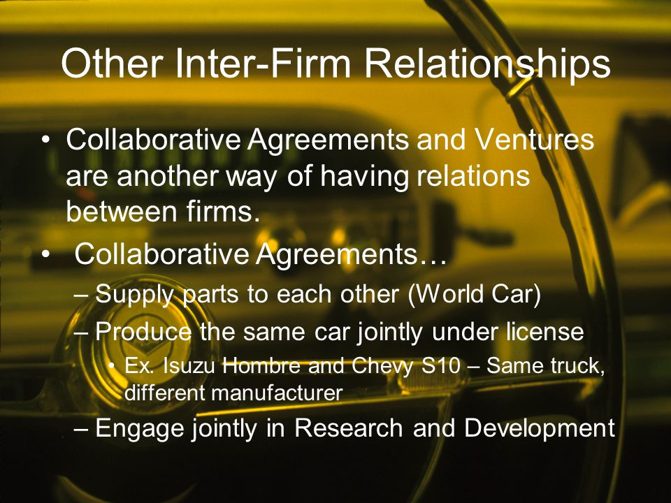 Other Inter-Firm Relationships