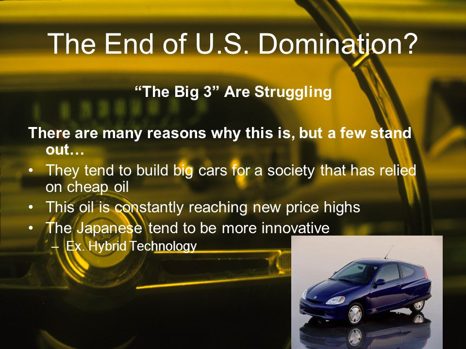The End of U.S. Domination