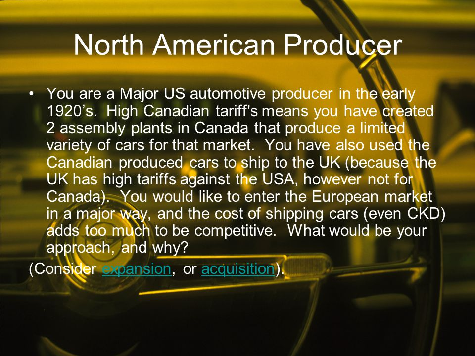North American Producer