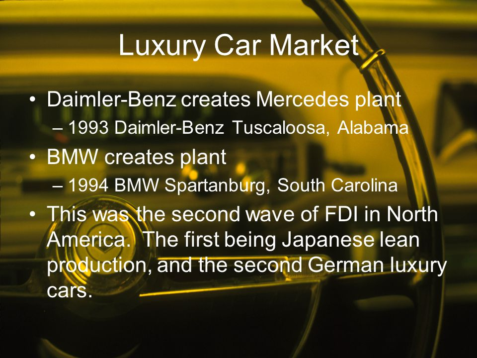 Luxury Car Market Daimler-Benz creates Mercedes plant