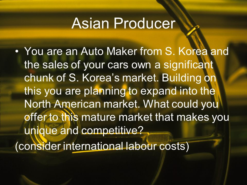 Asian Producer