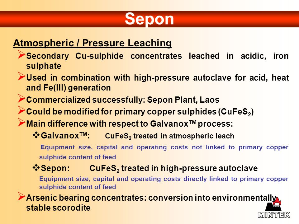 Sepon Atmospheric / Pressure Leaching