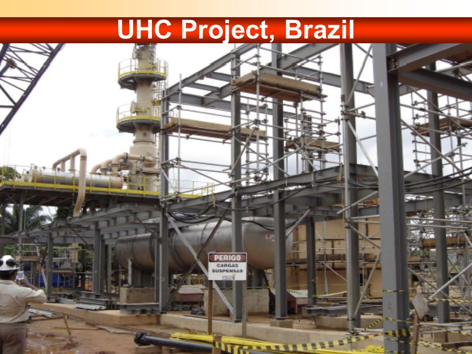 UHC Project, Brazil Autoclave and evaporator at UHC, Brazil (Photograph: The CESL Process, Teckcominco presentation, Internet).