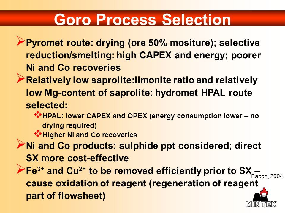 Goro Process Selection