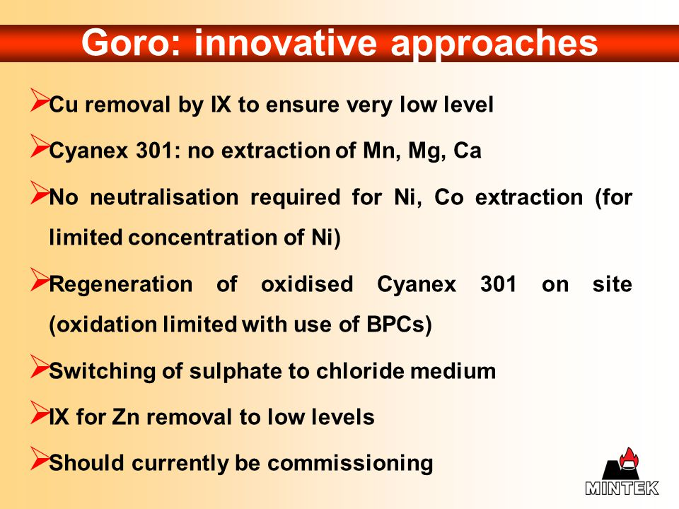 Goro: innovative approaches