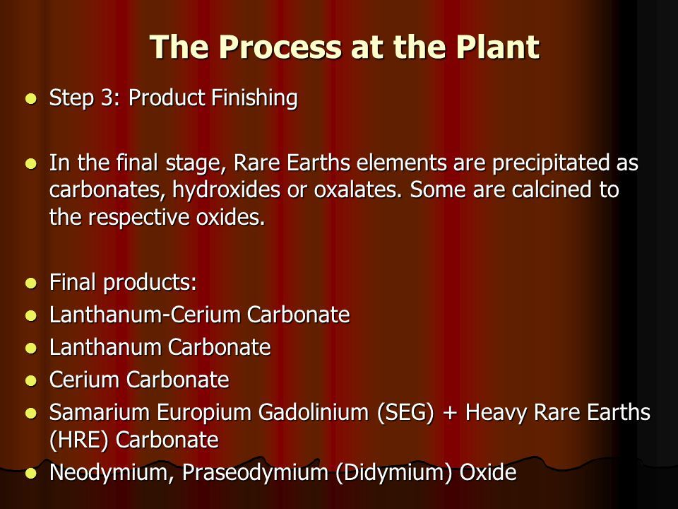 The Process at the Plant