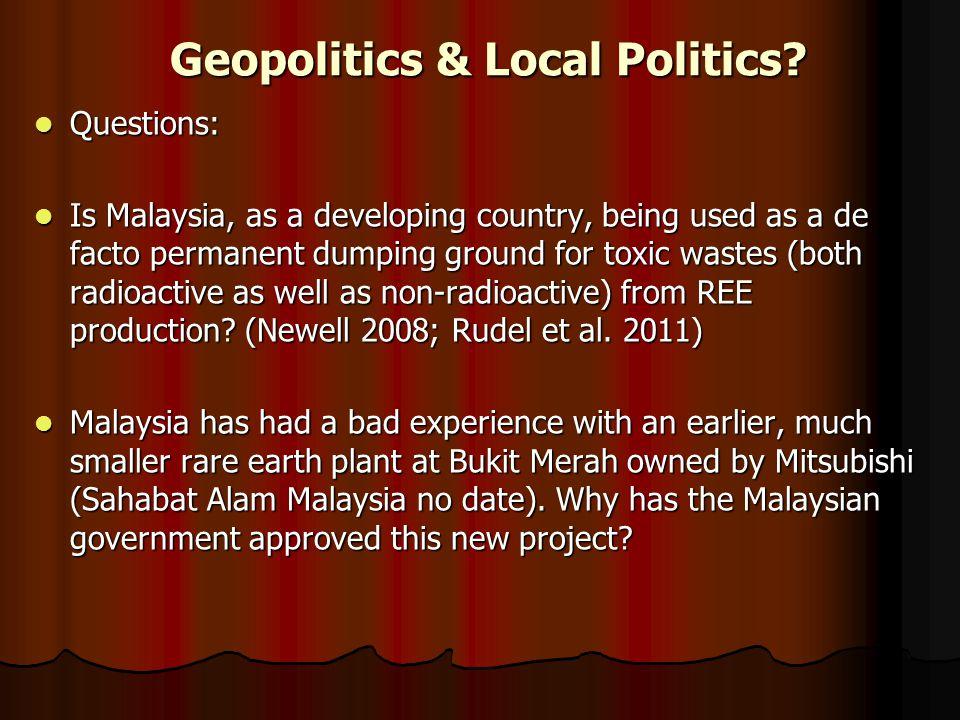 Geopolitics & Local Politics