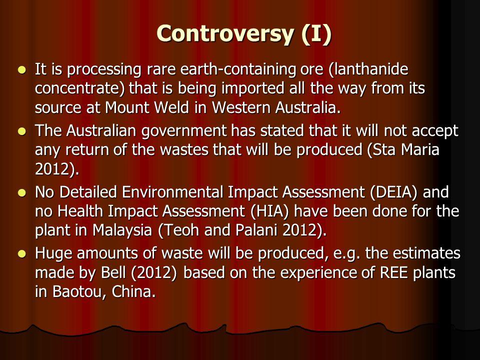 Controversy (I)