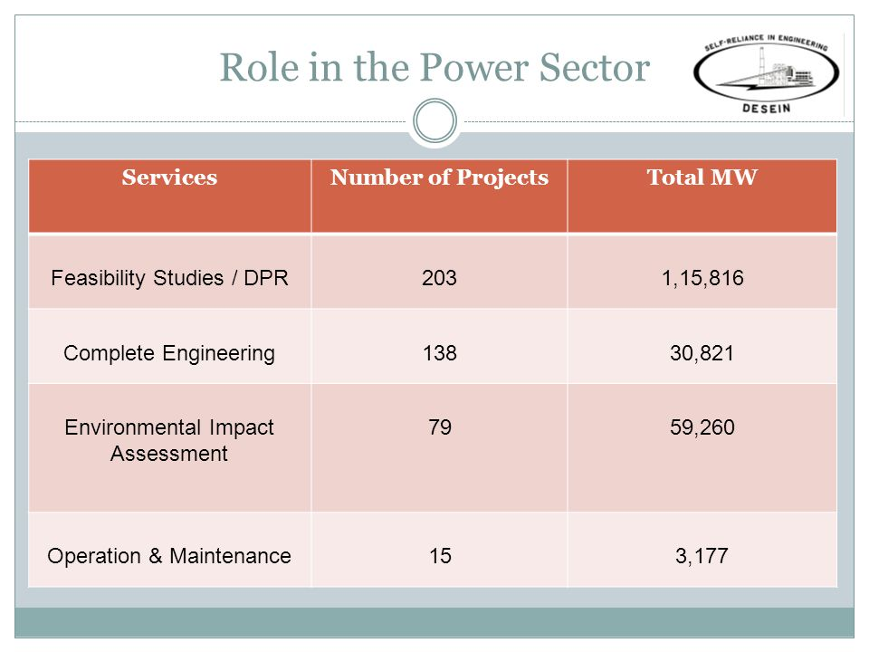Role in the Power Sector