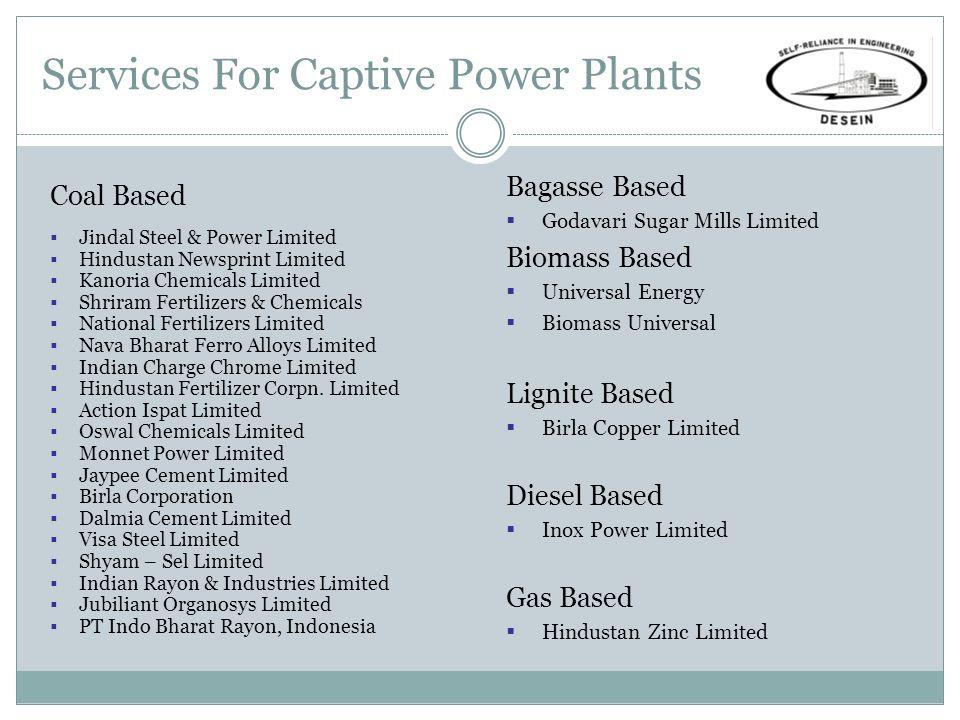 Services For Captive Power Plants