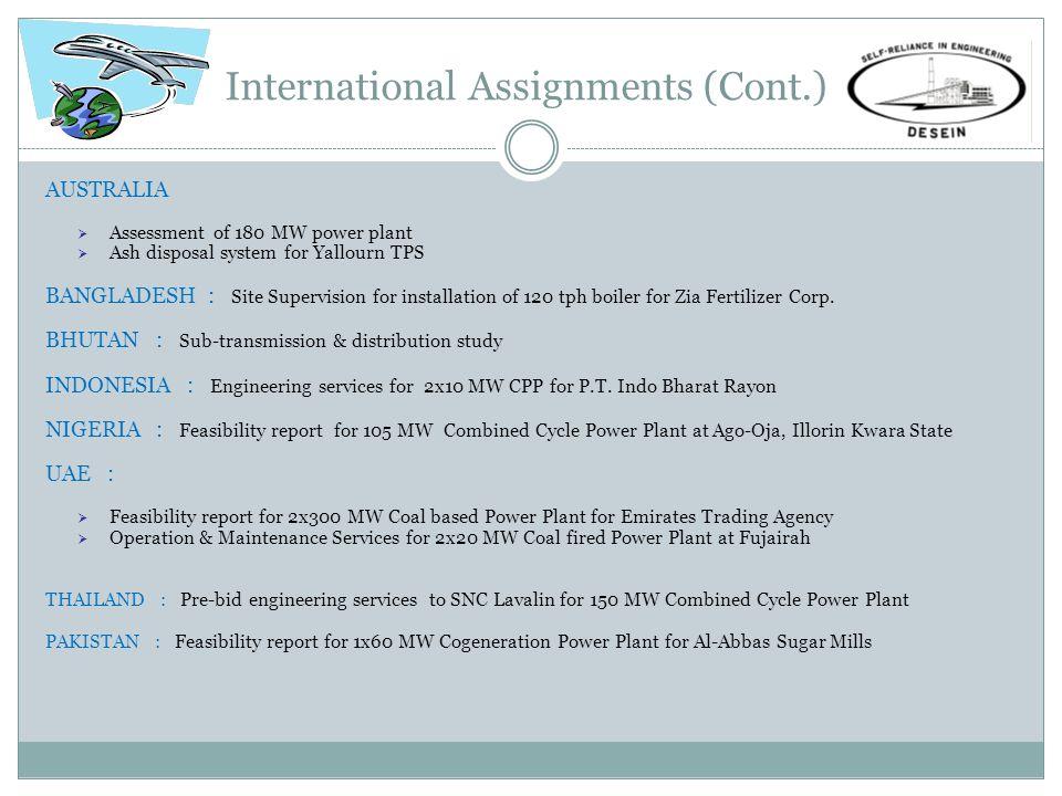 International Assignments (Cont.)