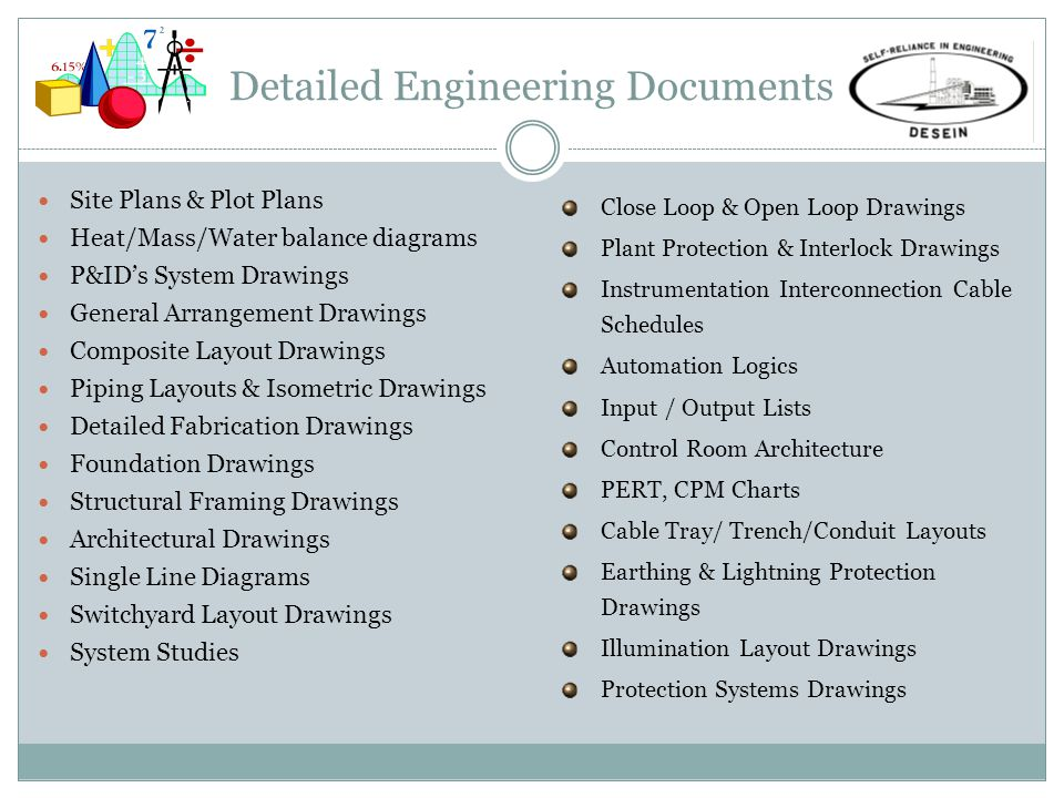 Detailed Engineering Documents