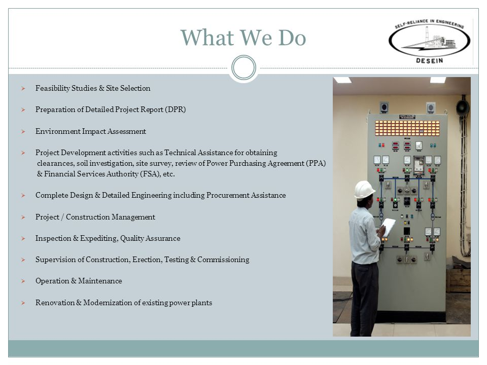 What We Do Feasibility Studies & Site Selection