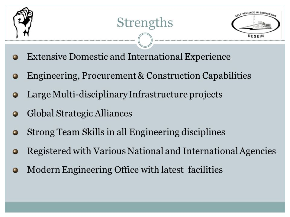 Strengths Extensive Domestic and International Experience