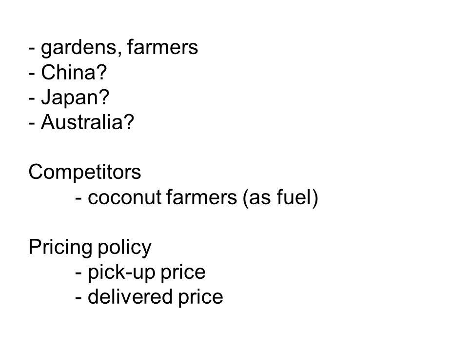 Potential market - Local/national. - handicraft storeholders