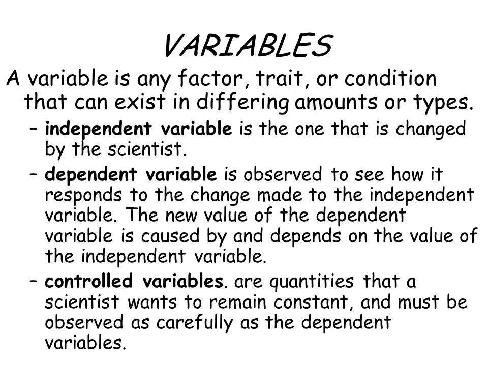 immigration and the dependent and independent variables Variables: independent, dependent, intervening as in all scientific research, the goal of research in sociology and criminal justice is to establish causal relationships between variables.