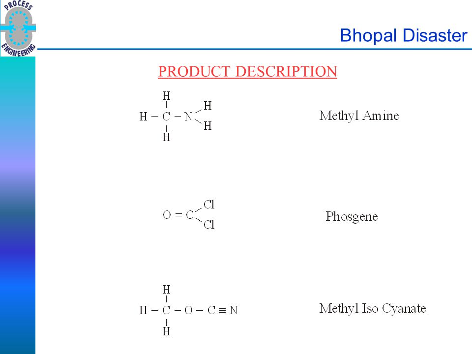 Bhopal Disaster PRODUCT DESCRIPTION