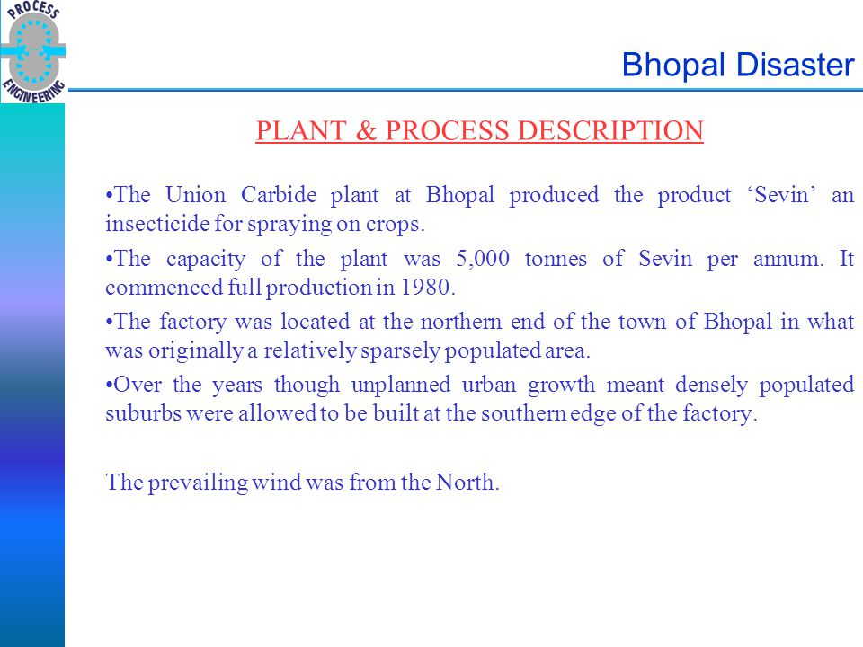 PLANT & PROCESS DESCRIPTION