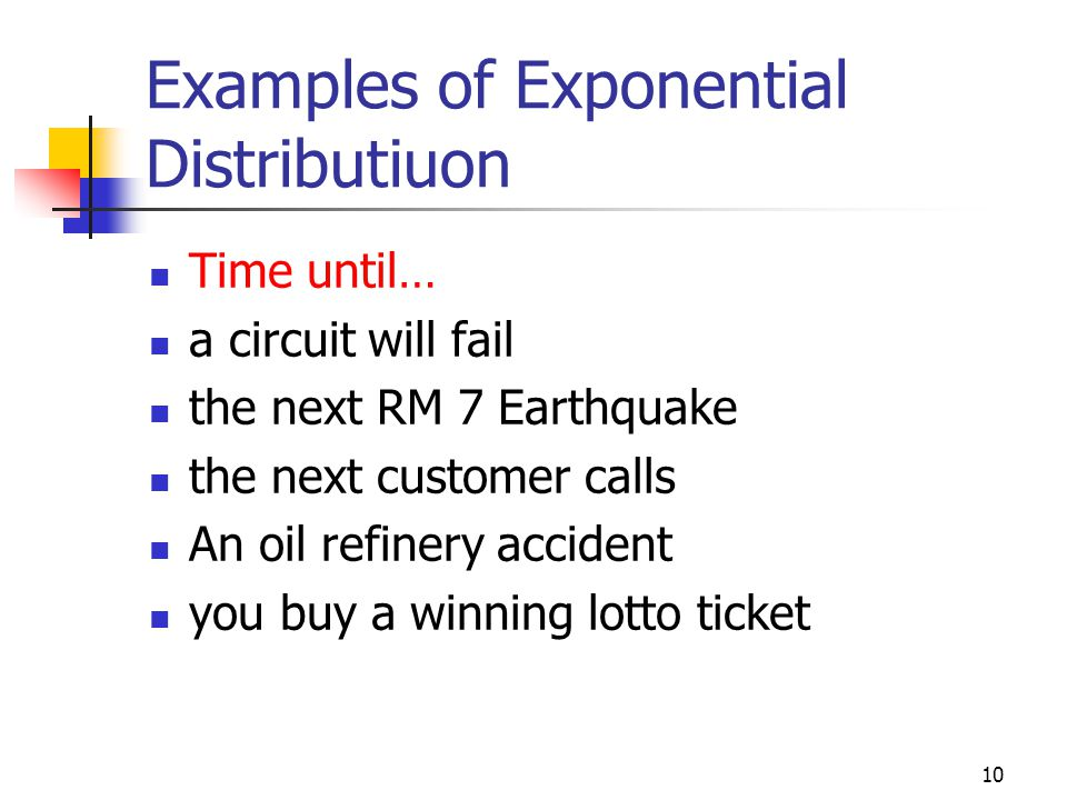 Examples of Exponential Distributiuon