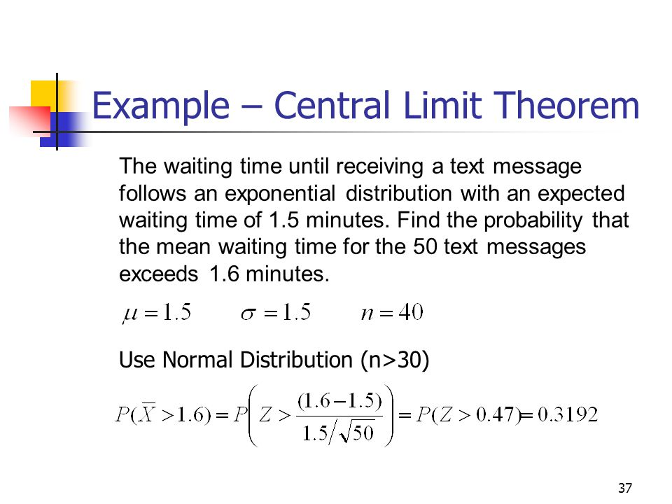 Example – Central Limit Theorem