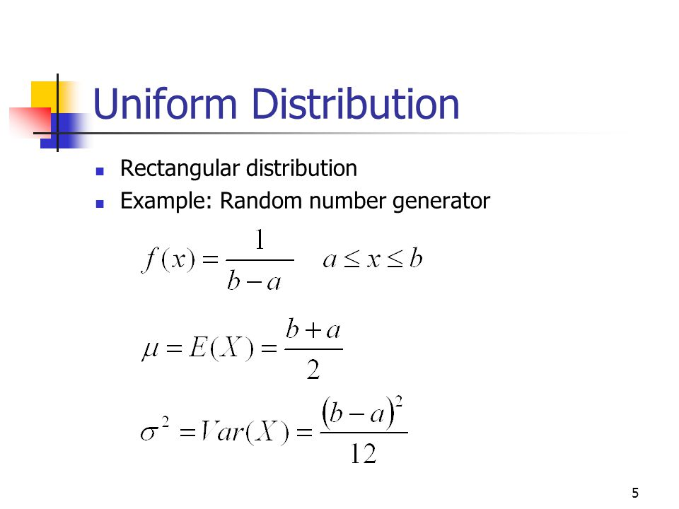 Uniform Distribution Rectangular distribution