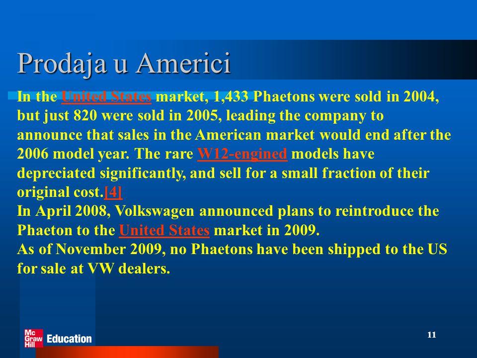Prodaja u Americi