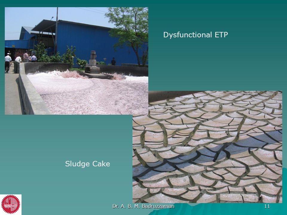 Dysfunctional ETP Sludge Cake Dr. A. B. M. Badruzzaman