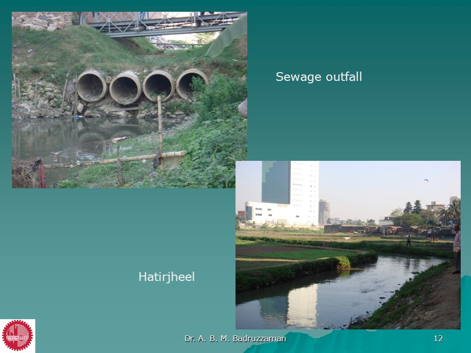 Sewage outfall Hatirjheel Dr. A. B. M. Badruzzaman