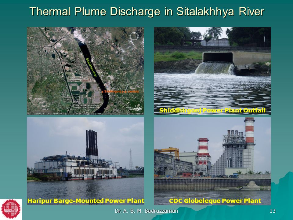 Thermal Plume Discharge in Sitalakhhya River
